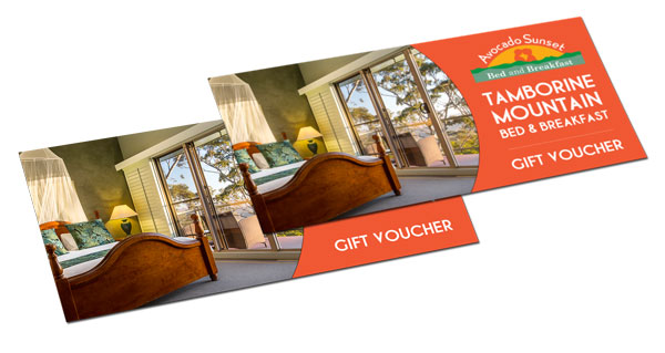 tamborine mountain accommodation gift voucher bed and breakfast